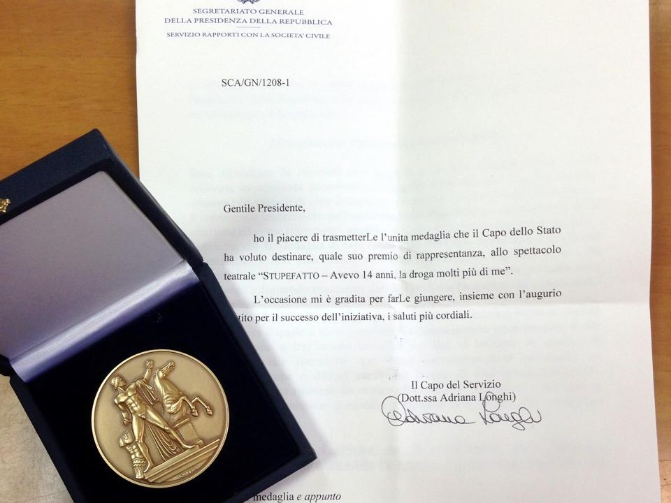 Medaglia di rappresentanza del Presidente della Repubblica Napolitano